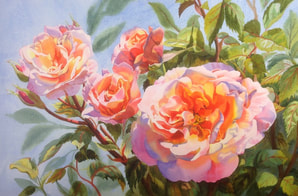 Floral paintings by Julie Cane